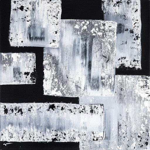 Marie-Anne DECAMP - Pittura - White on Black