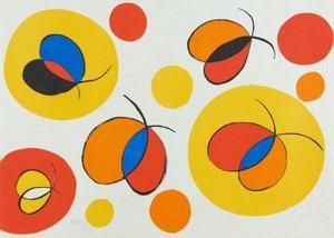 Alexander CALDER - Grafik Multiple - Composition aux papillons