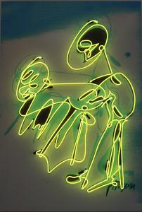Pascale Marthine TAYOU - Escultura - Graffiti Neon (Yellow)