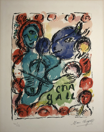 Marc CHAGALL - Stampa-Multiplo - Pantomime