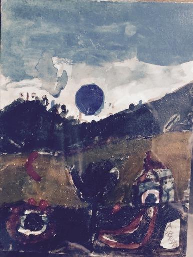 "Agustín UBEDA - Drawing-Watercolor - ""Paisaje"""