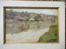 Albert BESNARD - Pintura - Bord de rivière