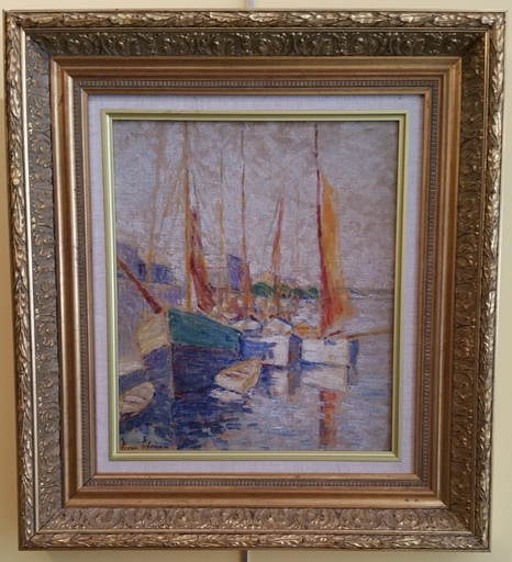 Pierre THOMAS - Painting - AU PORT