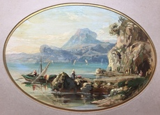 Gustave DORÉ - Painting - Waterscape - The pier