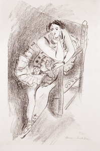 Henri MATISSE, Danseuse au fauteuil en bois