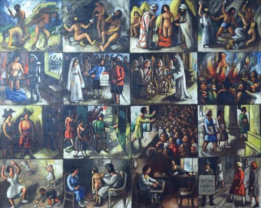 Arthur SEGAL - Painting - Die Frau im Spiegel der Jahrtausende