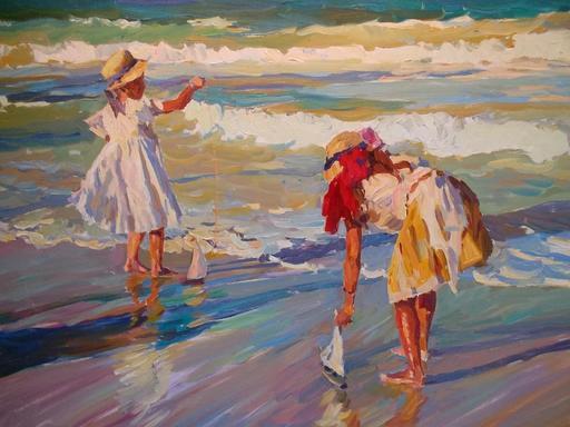 Youri KROTOV - Pintura - La Riviera .