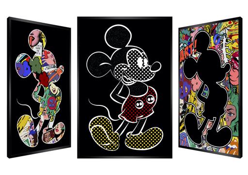 Patrick RUBINSTEIN - Painting - Bubbly Mickey