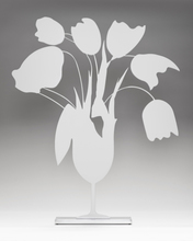 Donald SULTAN - Sculpture-Volume - WHITE TULIPS AND VASE, APRIL 4, 2014