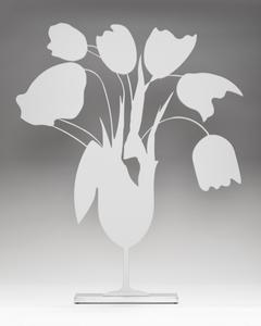 Donald SULTAN - Sculpture-Volume - WHITE TULIPS AND VASE, APRIL 4, 2014