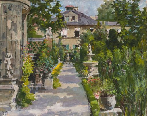 Charles VETTER - Peinture - Somerlicher Garten einer Villa