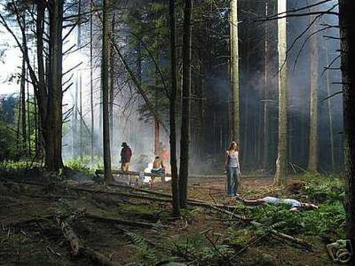 Gregory CREWDSON - Photography - Production Still (Forest Gathering #4)