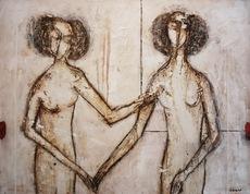 James COIGNARD - Peinture - Gabrielle d'Estrée