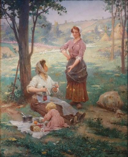 Adrien Henri TANOUX - Gemälde - The garden lunch