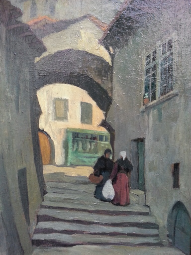 Louis Georges ALATERRE - Painting - Escaliers dans la Drôme