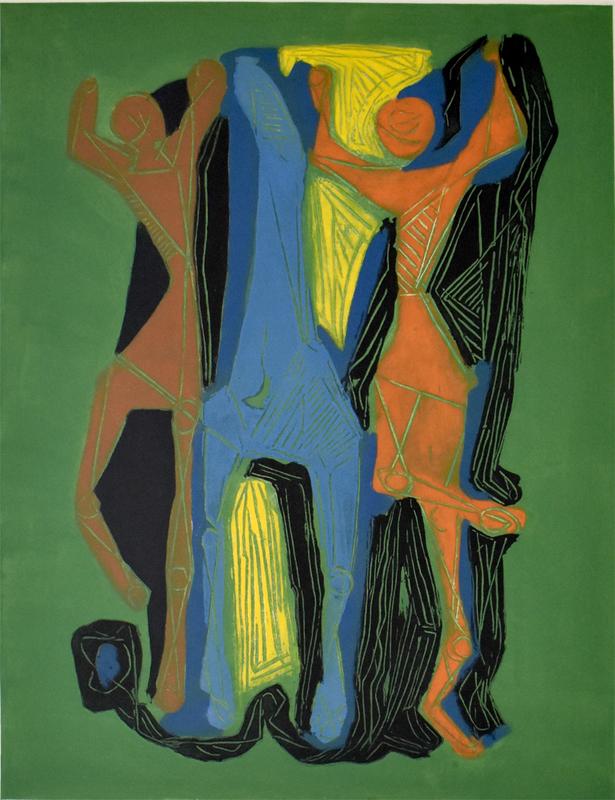 Marino MARINI - Print-Multiple - Composition II, from: Marino Marini from Goethe