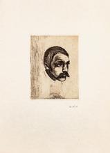Edvard MUNCH - Grabado - Sigbjørn Obstfelder