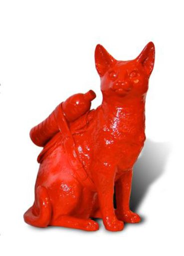 William SWEETLOVE - Print-Multiple - Small cloned red cat with water bottle