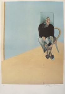 Francis BACON - Grabado - Study for Self portrait