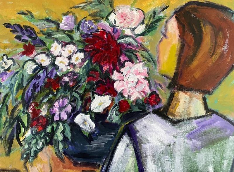 Antje SCHLAUD - Painting - Blumengrüße