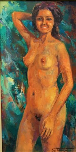 Georges TRINCOT - Pittura - Jeune femme nue debout.