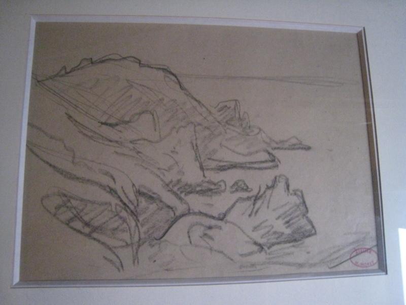 Henry MORET - Dibujo Acuarela - COTES ROCHEUSE EN BRETAGNE