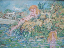 Jean-Pierre LAGRUE - Pintura - Les baigneuses.
