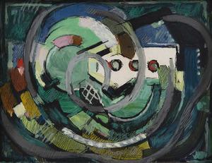 Albert GLEIZES - Dessin-Aquarelle - Composition