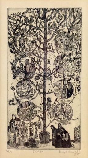István ENGEL-TEVAN - Estampe-Multiple - Tree of Life