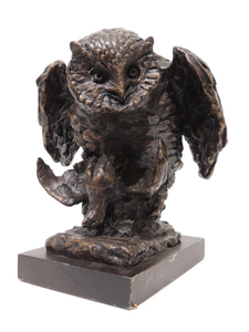 Antonio LIGABUE - Sculpture-Volume - Gufo con preda