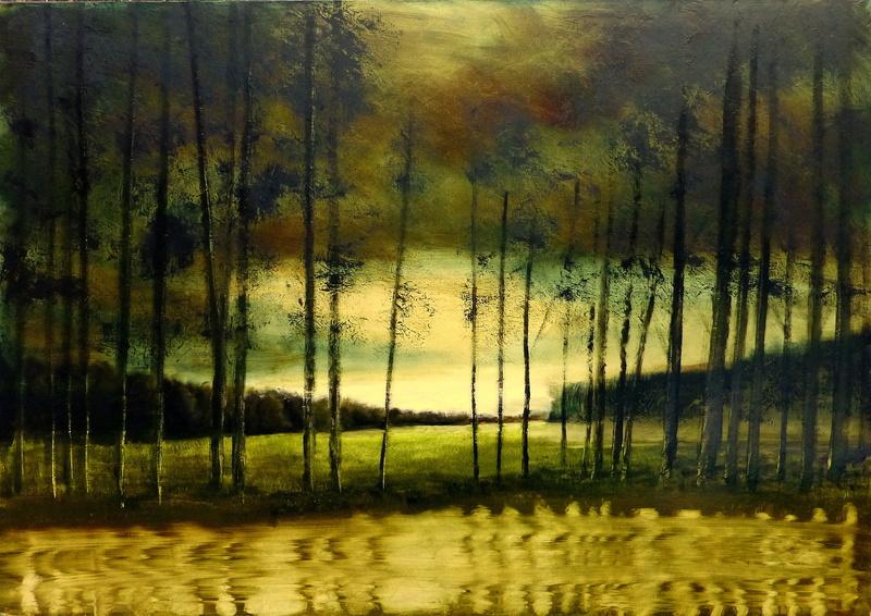 Eric HERRMANN - Painting - Promenade avec lise...hier n° 7