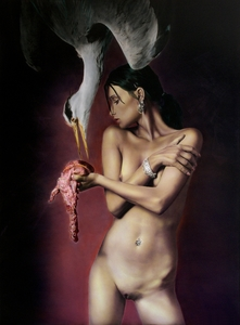 Antonin TESAR - Photography - Girl with heron