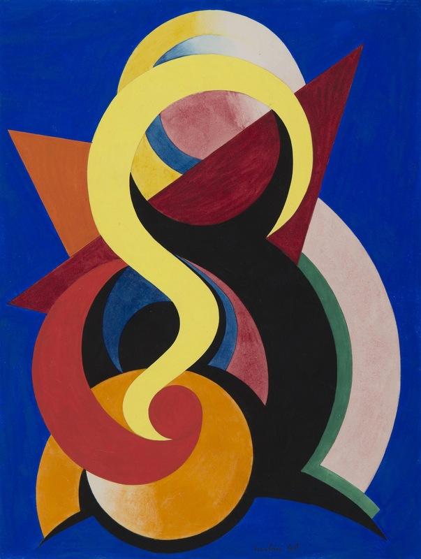Auguste HERBIN - 水彩作品 - Composition