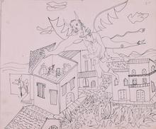 Mariano RODRIGUEZ - Drawing-Watercolor - El Diablo Cojuelo