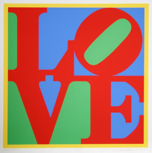 Robert INDIANA - Grabado - Heliotherapy Love