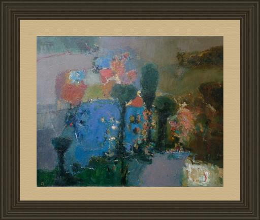 Levan URUSHADZE - Gemälde - Landscape with cypresses