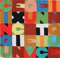 Alighiero BOETTI - Tapestry - Cinque x Cinque e venti cinque