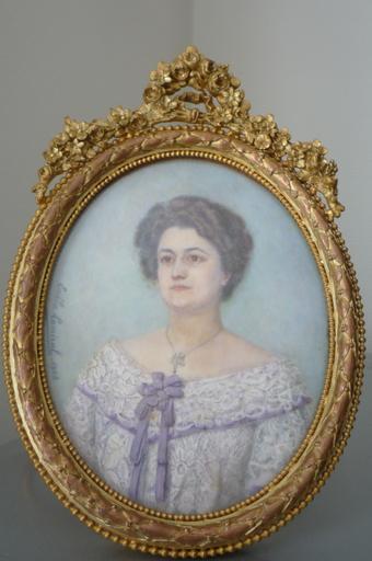 Émilie LAMIRAL - Miniature - portrait jeune femme