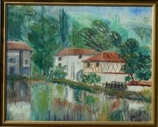Elie LASCAUX - 绘画 - Les moulins de NOBLAT-St Leonard de Noblat - Haute-Vienne