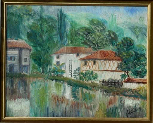 Elie LASCAUX - Painting - Les moulins de NOBLAT-St Leonard de Noblat - Haute-Vienne
