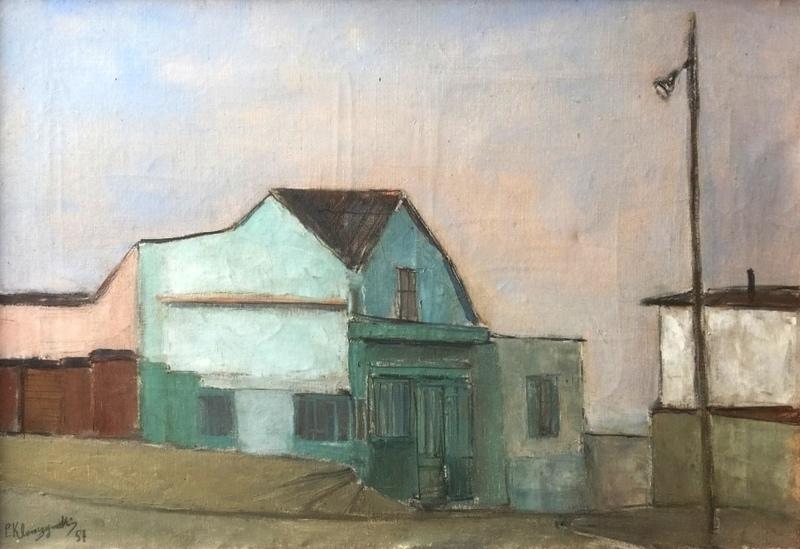 Pierre KLEMCZYNSKI - Pintura - Urban landscape - Hommage to Edward Hopper