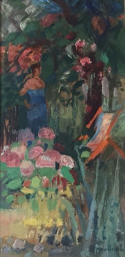 Paul COLLOMB - Peinture - Dans le jardin