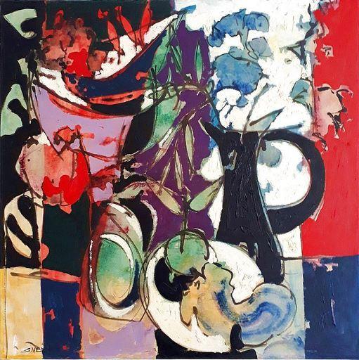Claude VENARD - Painting - Composition au Pichet Noir
