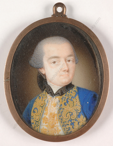 "Antonio BENCINI (Attrib.) - Miniatura - ""Austrian courtier"", miniature on ivory, ca. 1765"