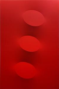 Turi SIMETI - Pintura - 3 ovali rossi