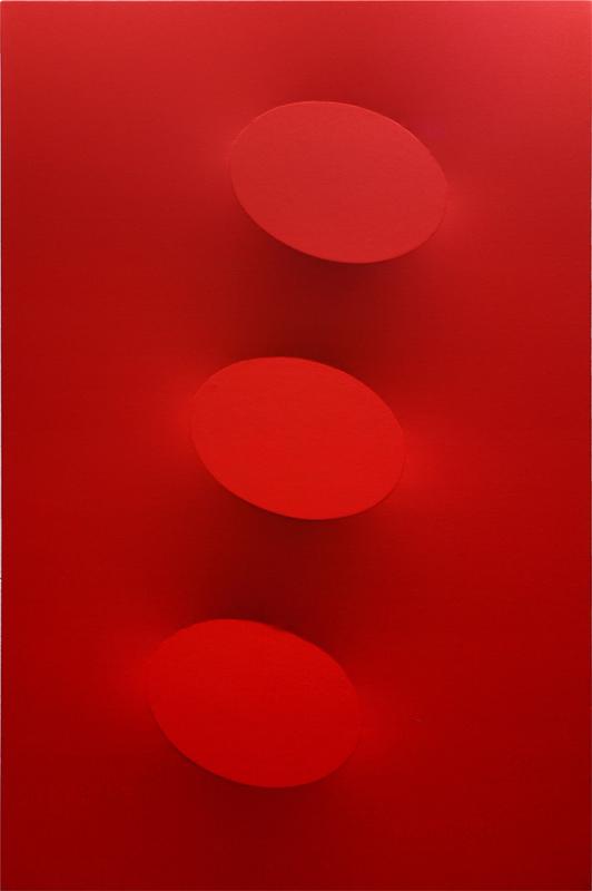 Turi SIMETI - Gemälde - 3 ovali rossi