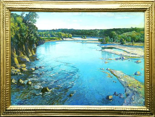 Samuel John Lamorna BIRCH - Peinture - The Shimmering Spey