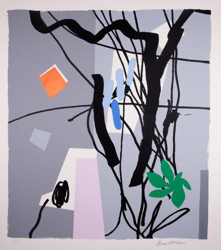 Bruce MCLEAN - Print-Multiple - Shades of Grey - Light Blue