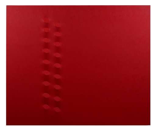 Turi SIMETI - Gemälde - 18 ovali rossi