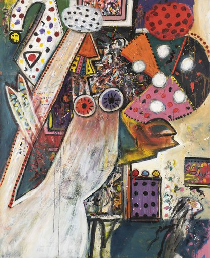 Alan DAVIE - Painting - Improvisations on a Chagall Theme no. 1